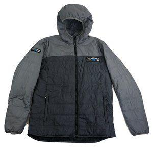 GoPro Mens Large Jacket Grey Puffy Full Zip Long